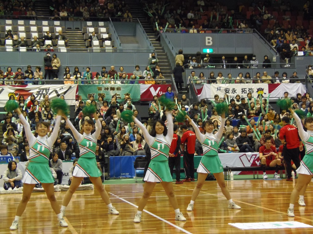 JTチアガール踊り