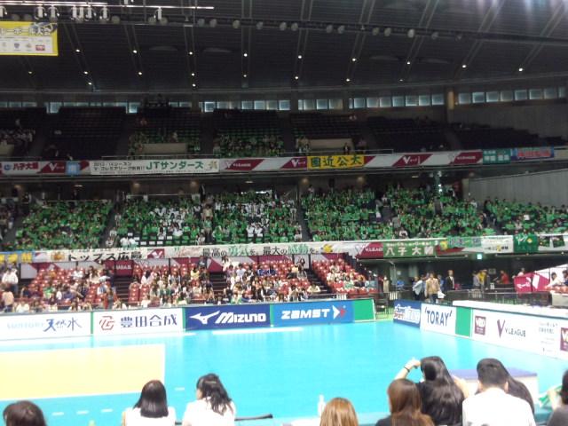 JT決勝の舞台東京体育館