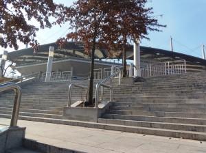 ソウルワールドカップスタジアムへ向かう階段