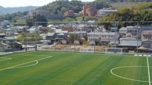 広島経済大学フットボールパークスタンドからの眺め