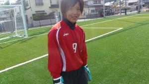 広島経済大学女子サッカー部、西迫栞さん