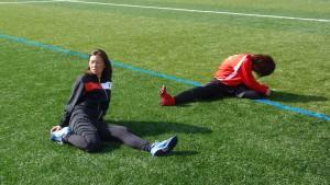 広島経済大学女子サッカー部のふたり練習