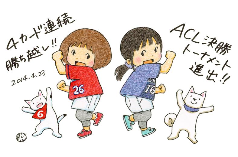 田中聡さんイラスト、ACL編