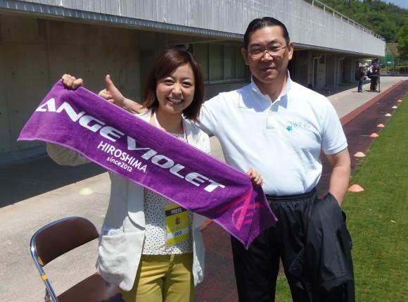 寛田先生と西名みずほアナ