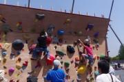 市民球場跡地イベント外遊び壁登り