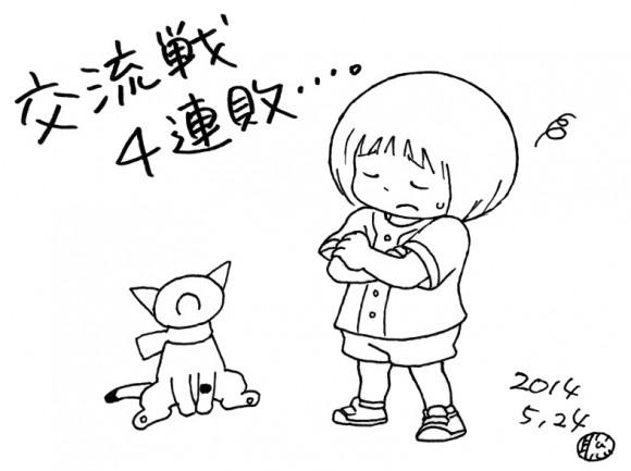 田中聡さんイラスト交流戦4連敗