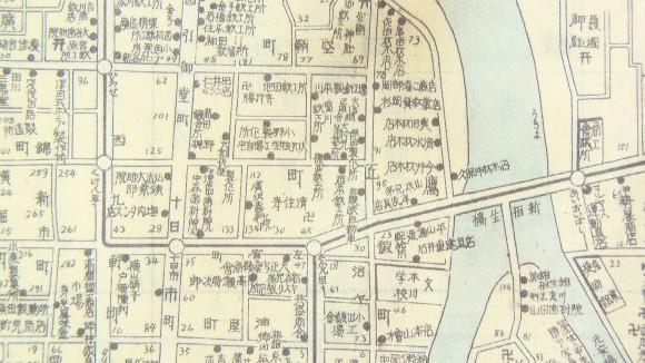 復刻広島市地図、戦前