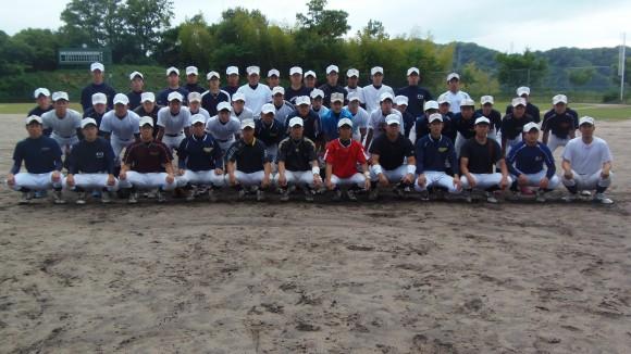 福山大学野球部集合写真2014年6月