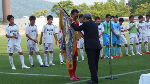 全広島サッカー優勝旗はSRC広島へ