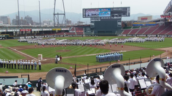 第96回夏の高校野球広島大会選手入場