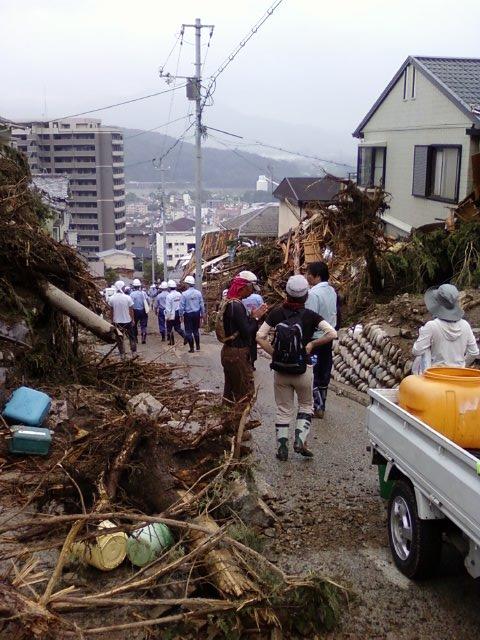 被災地のボランティア、2014年8月24日