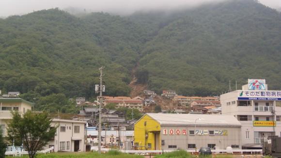 八木地区の被害ロング