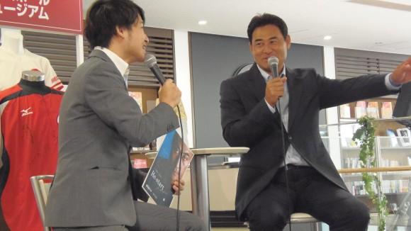 前田智徳さんトークショーで笑顔