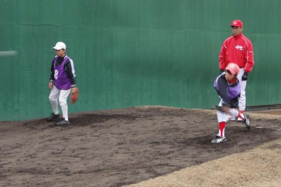 ポラーノ野球教室ピッチング