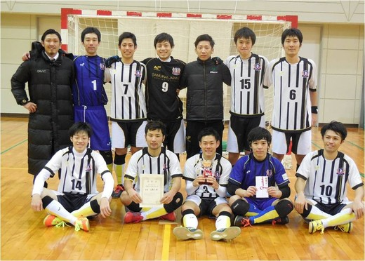 中国フットサルリーグチャンピオンシリーズ優勝の広島エフ・ドゥ