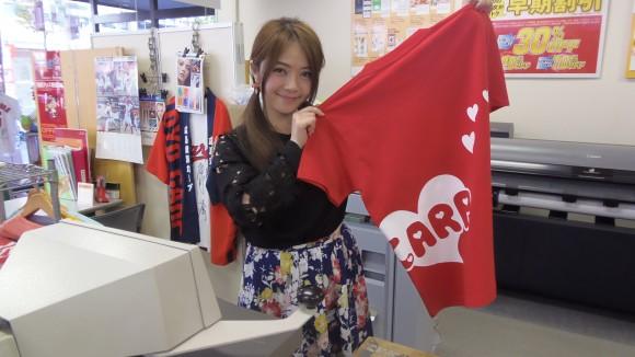 カープTシャツと大井さん