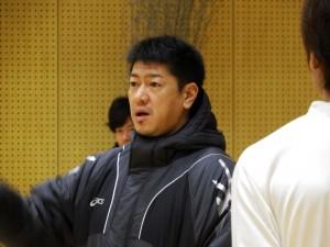 準決勝前日の佐古賢一ヘッドコーチ