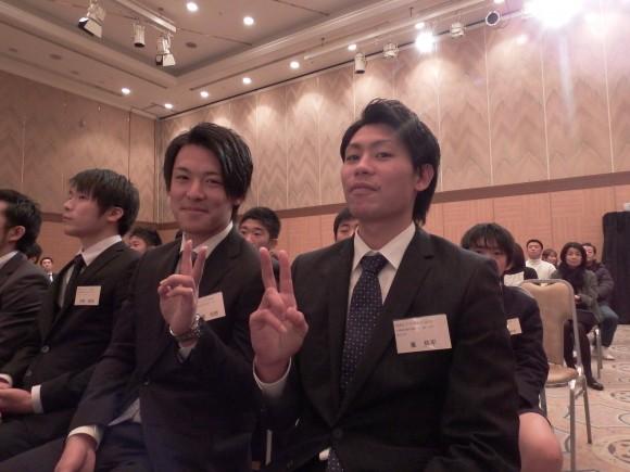 福山大学峯主将と川越選手