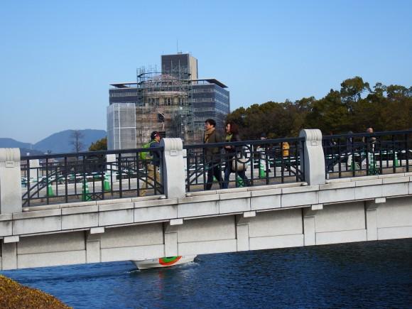 ひろしま男子駅伝の日の原爆ドーム