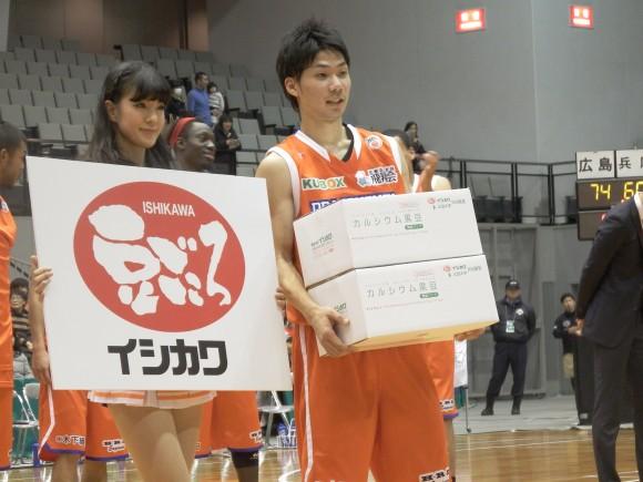 マンオブザマッチの北川2015年1月21日