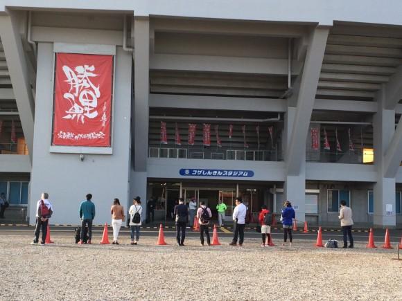 沖縄市野球場、黒田初日2015年2月18日