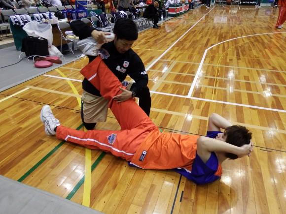 高橋トレーナーと坂田選手