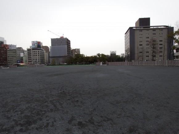 誰もいない球場跡地2015年2月25日