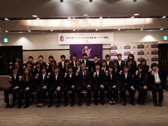 アンジュヴィオレ広島新メンバー発表会2015年3月8日