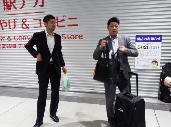 朝山正悟 佐古賢一ヘッドコーチ